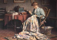 """The Quilt"", by Edward Henry Spernon Tozer (English, 1864-1955)"