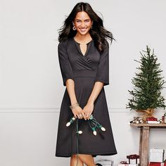 Keyhole Flounce Party Dress in Misses | AVON Fashion - Holiday Fashion - Avon Dresses - Buy Avon Fashion & mark Fashion at https://barbieb.avonrepresentative.com #Avon #Fashion #tops #dressess #slippers #shoes #boots #handbags #accessories #womens #misses #mark and more!