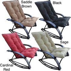 International Caravan Indoor/ Outdoor Folding Rocking Chair With Extendable…