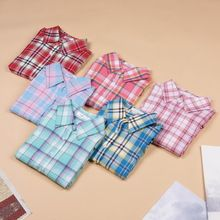 Hot Sale Fashion Women Blouses Long Sleeve Turn-down Collar Plaid Shirts Women Casual Cotton Shirt(China (Mainland))
