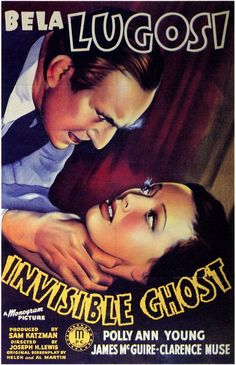 """The Invisible Ghost"" (1941) - Bela Lugosi"