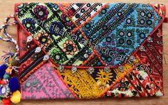 Banjara Patchwork Clutch Bag iv