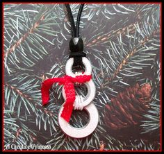 A Creative Princess: Snowman Washer Necklace- this tutorial could easily be used to make this as a tree ornament!