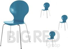 Arne Jacobsen Style Stackable Wooden Round Dining Chair in Blue Set of 4 Kitchen Table Chairs, Table And Chairs, Dining Chairs, Arne Jacobsen, Round Dining, Blue, Home Decor, Style, Swag