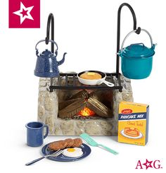 """American Girl 18/"""" Doll PRETEND FIRE from ADVENTURE CAMPFIRE Set NEW"""
