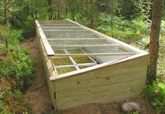 Build your own cold frame - From Four-Season Harvest: Organic Vegetables From Your Garden All Year Long by Eliot Coleman.