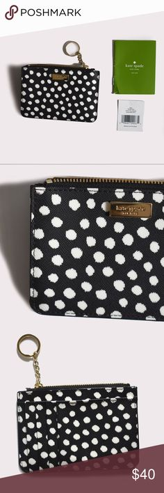 Kate Spade Bitsy Laurel Way Card Holder/Coin Purse Kate Spade | NWT | zipper closure and key fob | signature fabric interior | 4 credit card slots and 1 open pocket on back side | approximately: 5'' x 3.5'' x 1'' | all pictures taken by me product shown as is kate spade Accessories