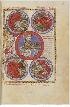 Beatus. — Commentaire sur l'Apocalypse, avec peintures. Ms. de la fin du XIIe siècle. - ms1366 59r