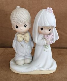 Precious Moments The Lord bless and keep you wedding bride groom cake topper #PreciousMoments