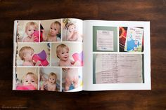 blurb booksmart templates - include things like the growth chart, memorized bible verses, doctor checkup stickers, and answers to questions ask on a birthday.