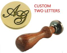 New Custom Made Two Letters 4 Designs Option Vintage by LoveMother