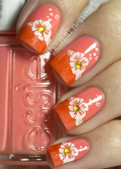 Beautiful nail art designs with flowers - Nails 01 Nail Art Designs, Nail Polish Designs, Get Nails, Fancy Nails, Gorgeous Nails, Pretty Nails, Manicure Y Pedicure, Flower Nails, Creative Nails
