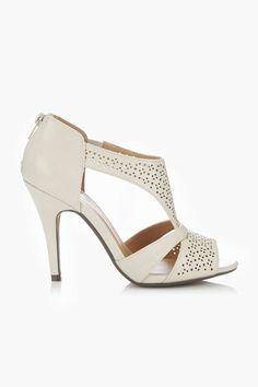 Cream Heeled Sandal - Wallis