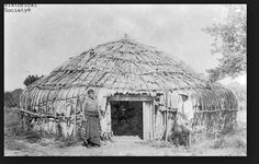 This is a wigwam a type of house.   12