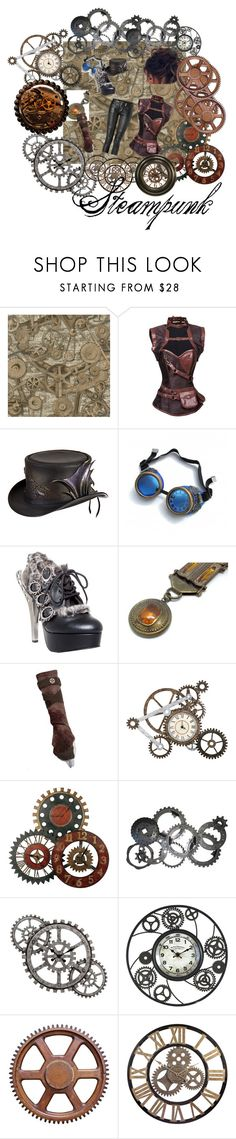 """Steampunk"" by malecsizzyclace ❤ liked on Polyvore featuring Balmain, Overland Sheepskin Co., HADES and Uttermost"