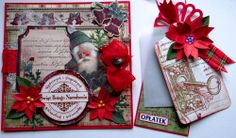 Karten, cards, vintage winter zima