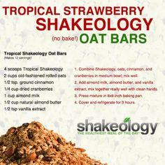 Shakeology No Bake Oat Bars!  If you are interested in Shakeology, please visit my website: www.shakeology.com/iib4