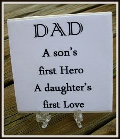 Dad Quote Tile  Fathers Day Gift by timestotreasure on Etsy #craftshout 0208
