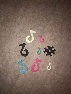 Excited to share this item from my #etsy shop: Pink, Blue, Black and White Tiktok and Hashtag table confetti for birthday party