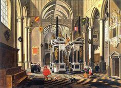 tomba di Guglielmo il Silenzio in una chiesa immaginaria, 1620, Bartholomeus van Bassen