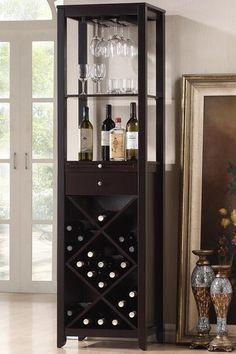 Austin Wood Brown Modern Wine Tower by Wholesale Interiors on @HauteLook