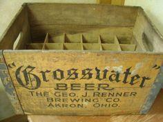 Vintage Wood Grossvater Beer -  Crate / case - Geo. J Renner Brewing Co. $75.00, via Etsy.