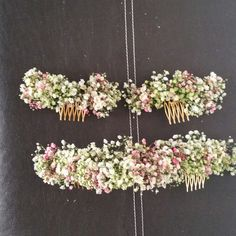 Tocados paniculata natural para novias y damitas Wedding Hair Clips, Wedding Hair Flowers, Headpiece Wedding, Flowers In Hair, Silk Flowers, Wedding Bouquets, Cute Wedding Dress, Elope Wedding, Flower Hair Clips