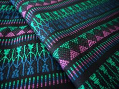 One yard of South American Andean fabric - a thin and sturdy fabric perfect for creating home decor, clothing, accessories, and more. This