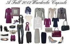 Easy Wardrobe Capsules | Grey, Navy and Purple Professional or Church Wardrobe
