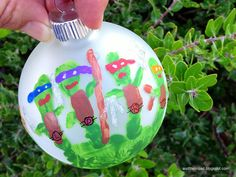 Ninja Turtle Hand Print Ornament, how CUTE!!!