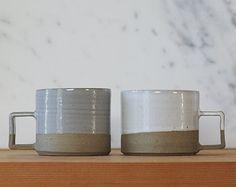 pottery handles mugs modern - Google Search