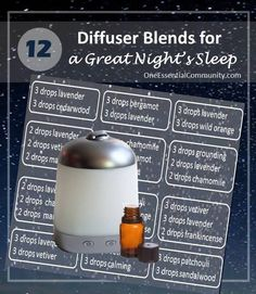 my favorite essential oil diffuser blends for getting a great night's sleep