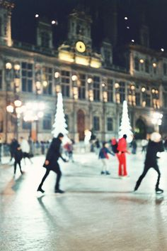 Ice skating in Paris
