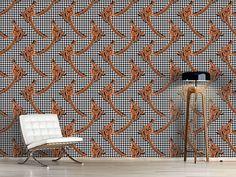 Design #Tapete Hahnentritt Calla Braun Calla, Bouquet, Design, Self Adhesive Wallpaper, Wall Papers, Get Tan, Bouquets
