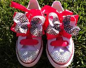 Items similar to Chuck Taylor Converse Leopard Bling Toddler Shoes Size 4 on Etsy, a global handmade and vintage marketplace.