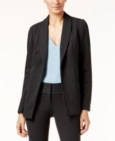 Alfani Shawl-Collar Open-Front Jacket, Only at Macy's - Gray 6