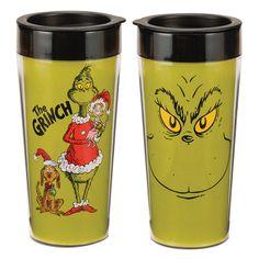 RetroFestive.ca - The Grinch 16 oz. Plastic Travel Mug - Dr. Seuss, $9.99 (http://www.retrofestive.ca/the-grinch-16-oz-plastic-travel-mug-dr-seuss/)