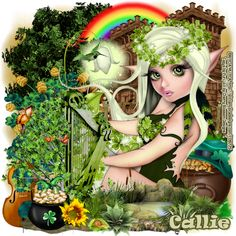 "MI RINCÓN GÓTICO: CT for CHERRY BLOSSOM DESIGNS, ""Irish Cutie"""