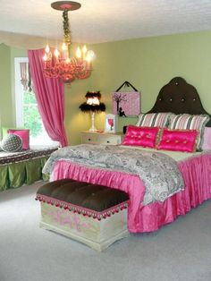 Tween Girl Bedroom Ideas in Incredible Colorful Concept : Attractive Tween Girls Bedroom Ideas With Pink Bedding Curtain Design Ideas