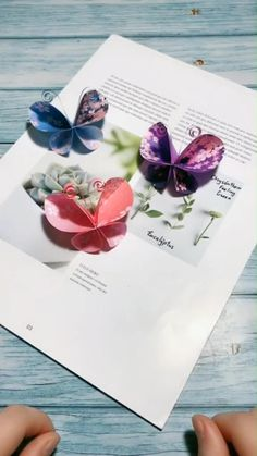 A simple tutorial to show you how to DIY paper butterfly. If you love our video, feel free to follow us :-).