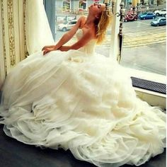 Love big wedding dresses