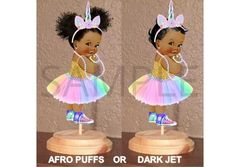 Pre Cut Pastel Rainbow Unicorn Princess Babies of Color Gold Shirt Centerpiece with Wood Stand OR Cut Outs, Unicorn Baby Shower Baby Cutout Unicorn Princess, Baby Princess, Unicorn Baby Shower, Girl Shower, Small Centerpieces, Thing 1, Boss Baby, Rainbow Unicorn, Party Items