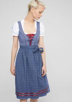 Materialzusammensetzung:Obermaterial Bluse: 100% Baumwolle, Kleid: 100% Baumwolle, Schürze: 100% Baumwolle,  ...