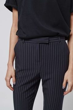 Pinstripe Cigarette Trousers