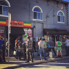 Portlandia filming on N Kenton St @ Posie's Bakery And Cafe   Photo by byronbeck