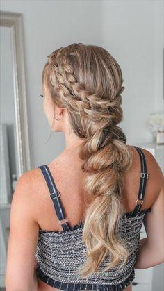 @missysueblog Baby Girl Hairstyles, Vintage Hairstyles, Summer Hairstyles, Cute Hairstyles, Braided Hairstyles, Hair Curling Tips, Long Braids, Bridesmaid Hair, Hair Hacks