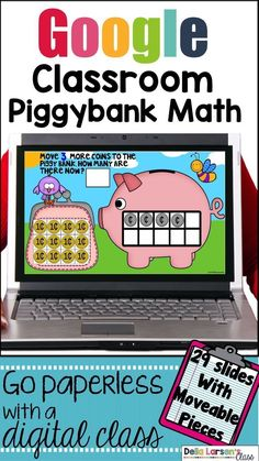 Go digital with a paperless math center. Increase number sense with counting, and cardinality. Add a fun computer game to ignite your math block. Your students will have so much fun on their digital device using this interactive math product. Your students will love dragging the movable pieces to the correct spots. It's never too early to embrace technology into your kindergarten classroom. This is a fun way to assess counting skills, making a set, counting on from a number, and ordering… Kindergarten Math Activities, Kindergarten Classroom, Elementary Teacher, Elementary Education, Classroom Ideas, Math Resources, Blended Learning, Fun Learning, Math Lesson Plans