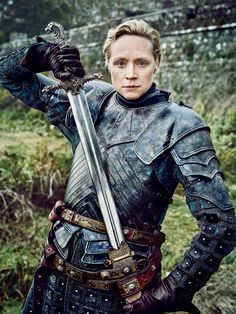 "Game of Thrones S6 Gwendoline Christie as ""Brienne of Tarth"""