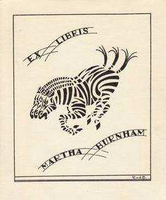 Ex Libris - Martha Burnham.