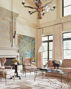 A French, Neoclassical-Style Residence in Dallas | LuxeDaily - Design Insight from the Editors of Luxe Interiors + Design
